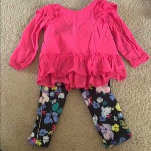 Toddler girls leggings and shirt set